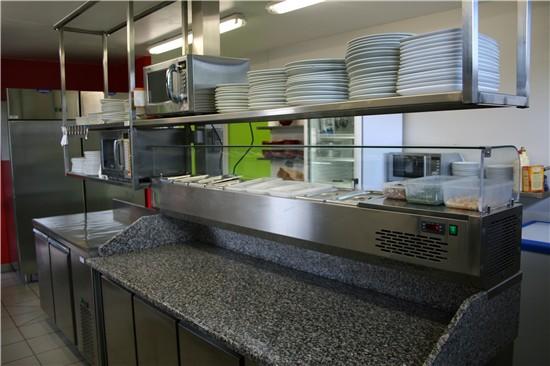 Comptoir bar vitrine cuisine inox fci pro - Plan de cuisine professionnelle restaurant ...
